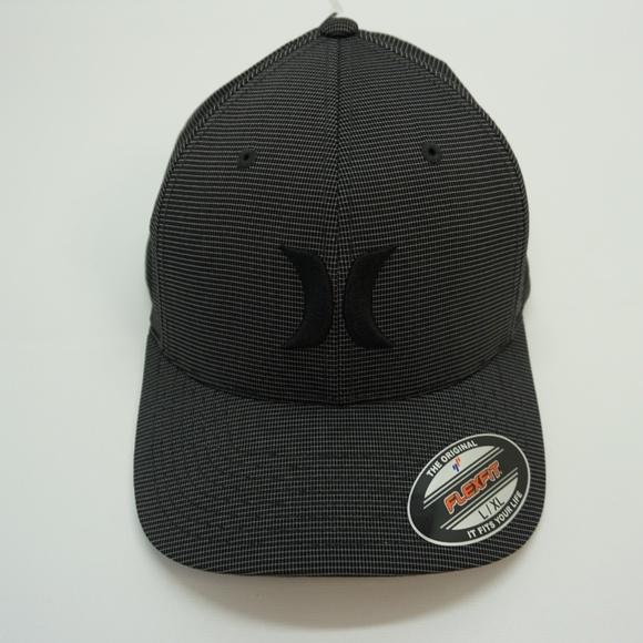 1e876040 Hurley Accessories   Mens Hat Flex Fit Black Suits Outline Lxl ...